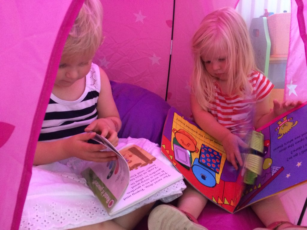 home reading tent