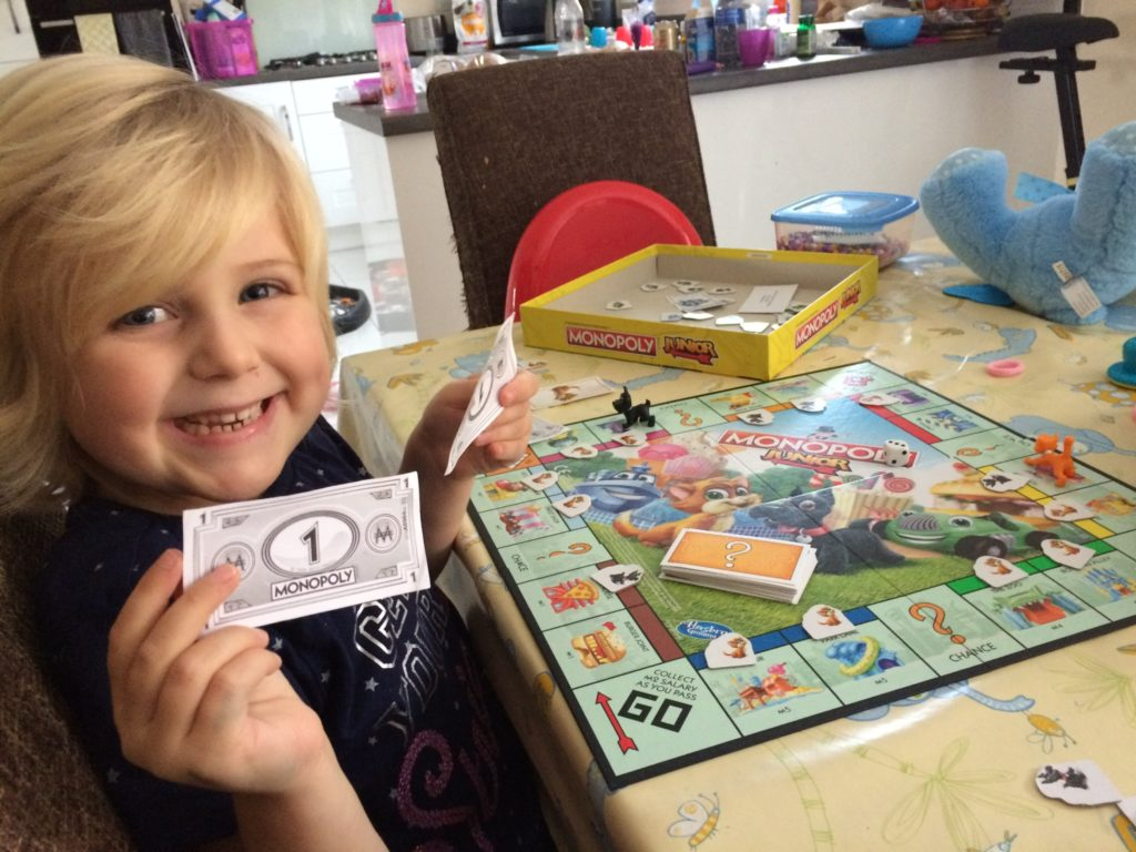 monopoly money counting adding subtracting
