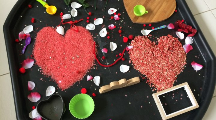 Valentine's day special- maths and sensory play